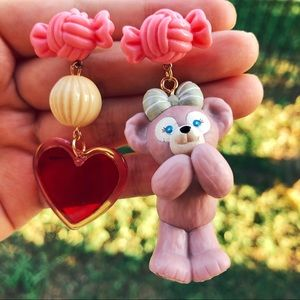 Handmade Disney ShellieMay the bear earrings